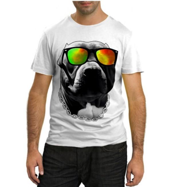 Модная футболка Дог в очках
