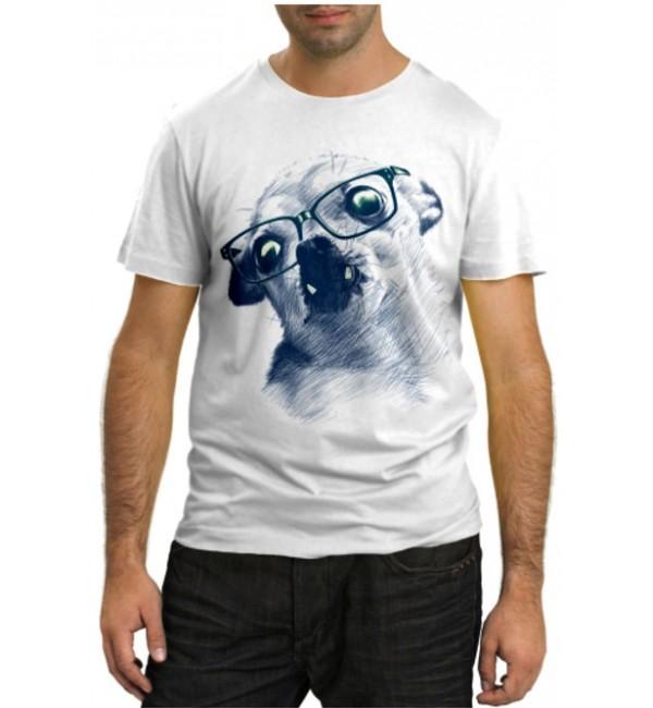 Модная футболка Собачка в очках