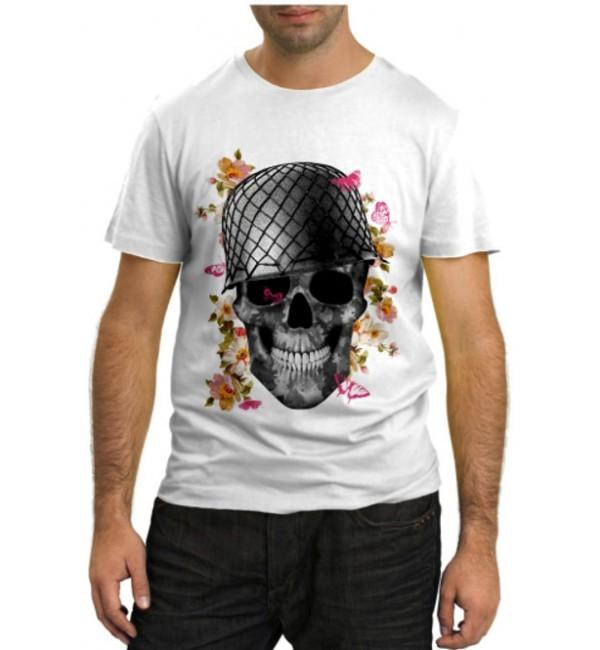 Модная футболка Череп в каске