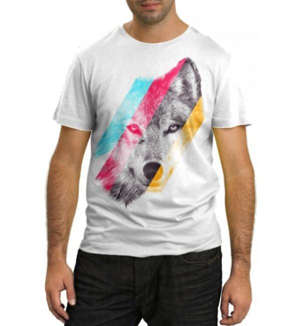 Модная футболка Серый волк