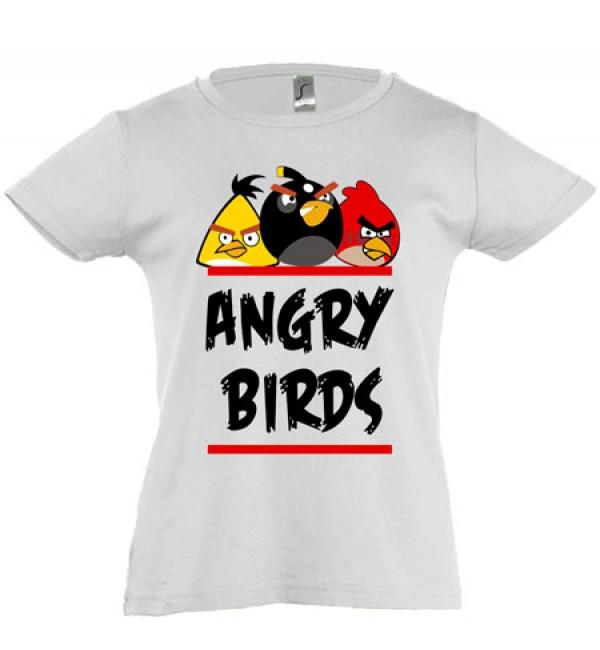 Футболка для девочки  Angry Birds
