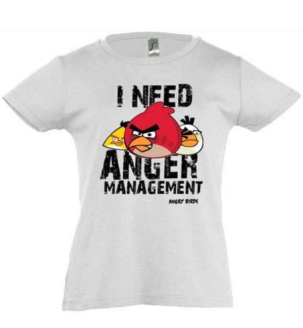Футболка для девочки  Angry Birds 2