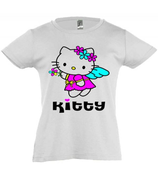 Футболка для девочки  Kitty
