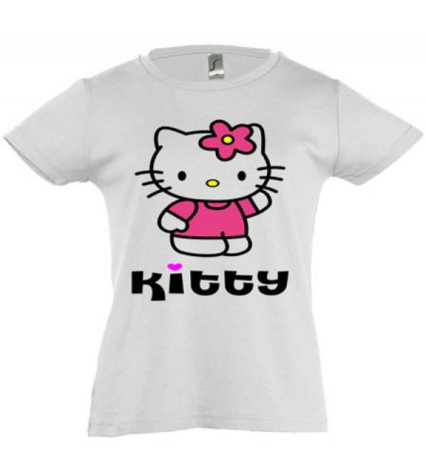Футболка для девочки  Kitty 1
