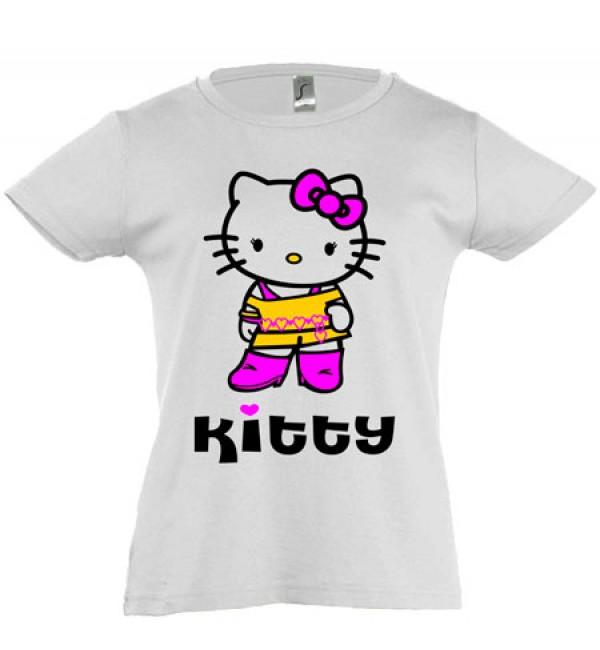 Футболка для девочки  Kitty 2
