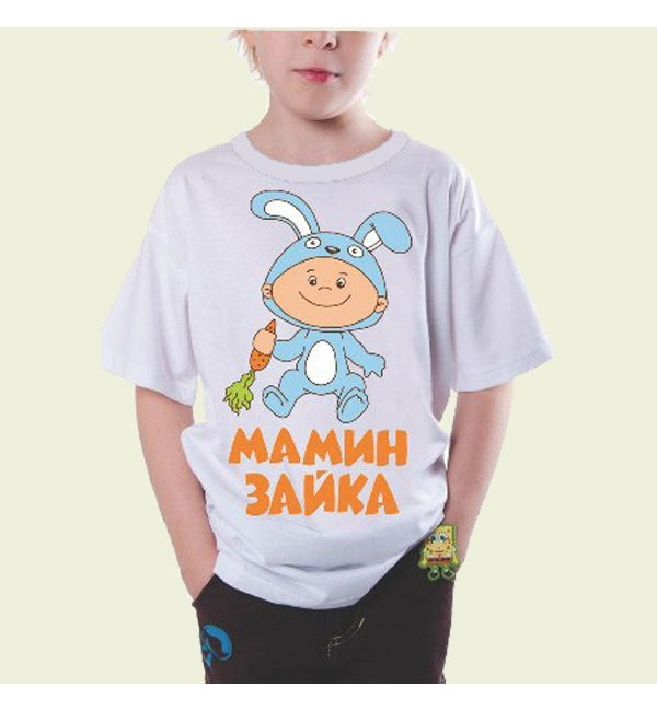 Детская футболка Мамина зайка