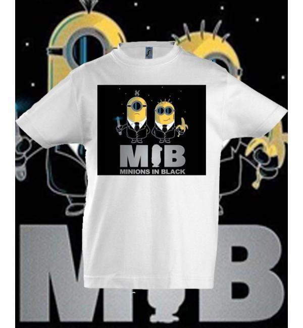 Детская футболка Миньон в черном