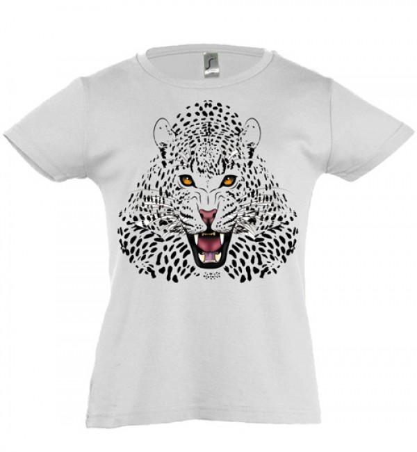 Футболка для девочки Леопард
