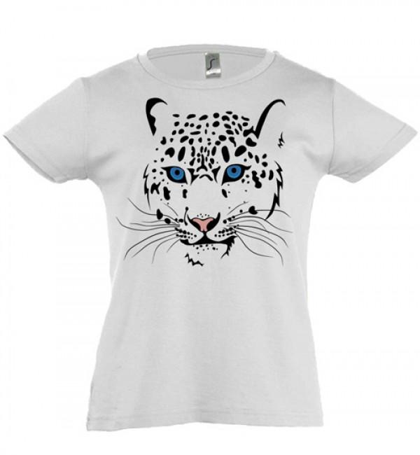 Футболка для девочки Леопард 1