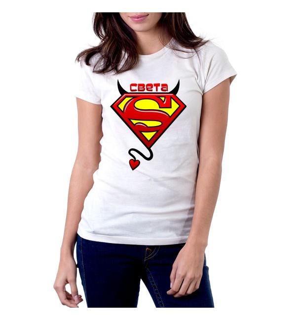 Женская футболка Света чертовка