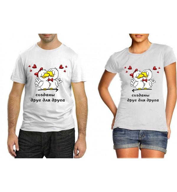 Парные футболки Птички