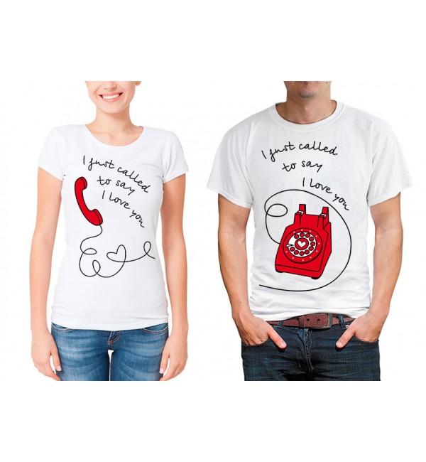 Парные футболки для двоих Я только позвонил...