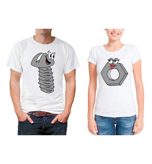 Парные футболки для двоих Винт и гайка