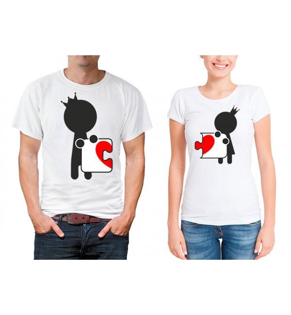 Парные футболки для двоих Пазл