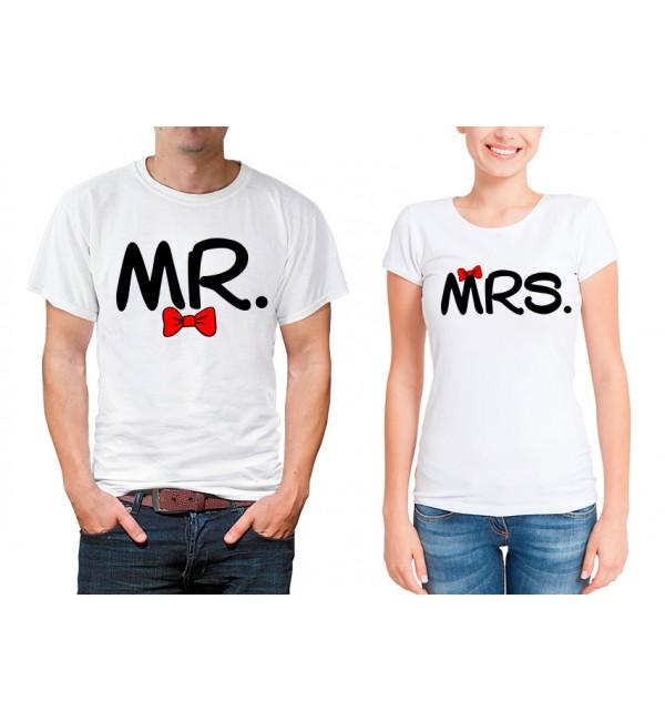 Парные футболки для двоих Mr and Mrs