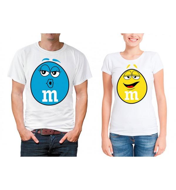 Парные футболки для двоих M&M's