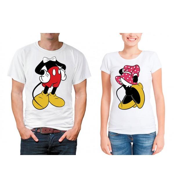 Парные футболки для двоих Микки и минни