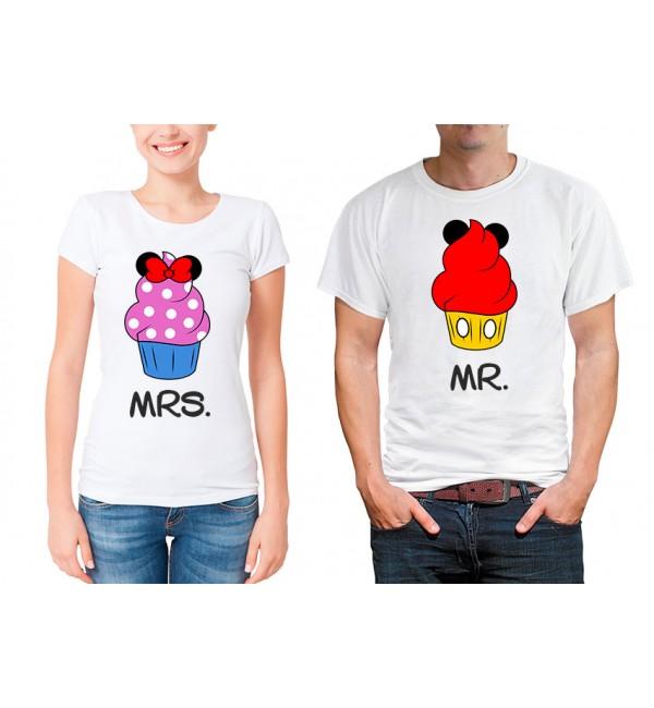 Парные футболки для двоих Капкейки