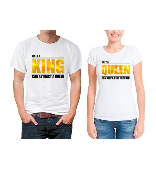 Парные футболки Только король и королева