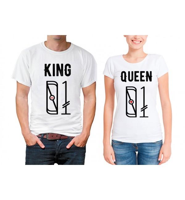 Парные футболки Король и королева номера