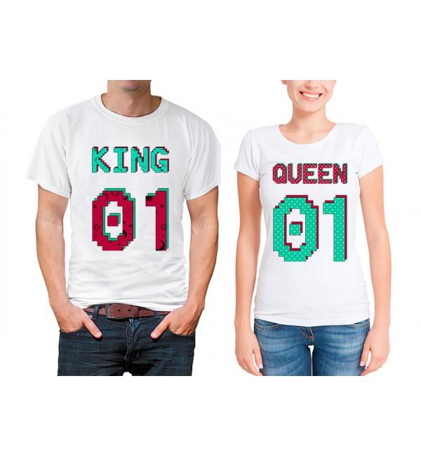 Парные футболки Король и королева номера 2