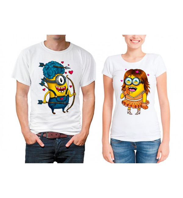 Парные футболки Влюбленные миньйоны