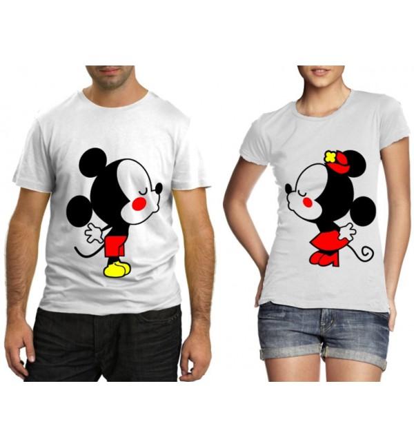 Парные футболки Влюбленные Микки и Минни