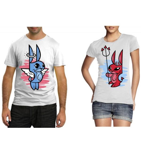 Парные футболки Влюбленные кролики