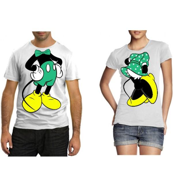 Парные футболки Микки и Минни