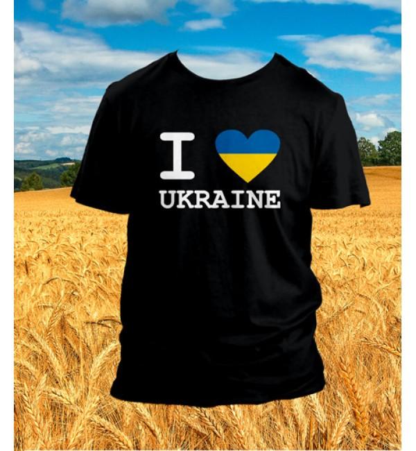 Патриотическая футболка Я люблю Украину 1