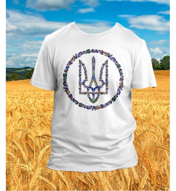 Патриотическая футболка Трезуб