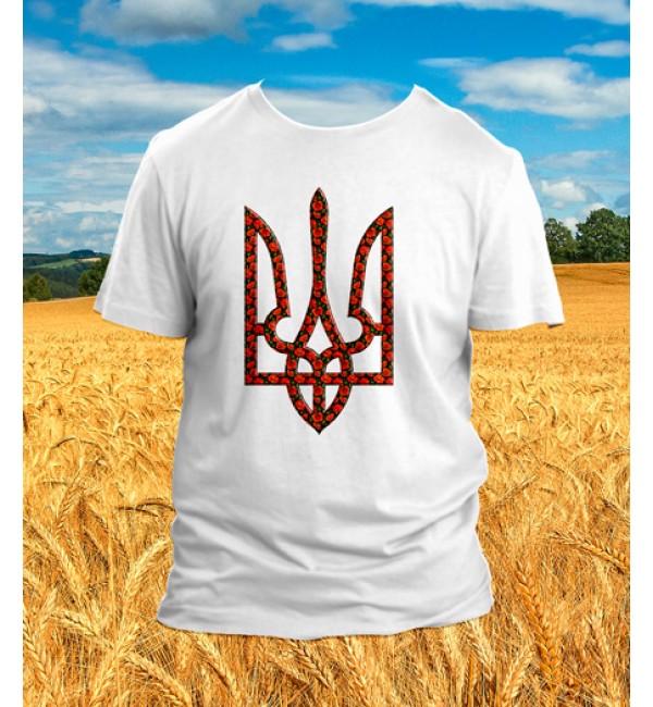 Патриотическая футболка Трезуб, Мак