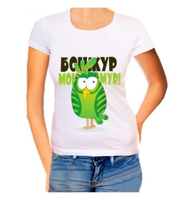 Женская футболка Бонжур