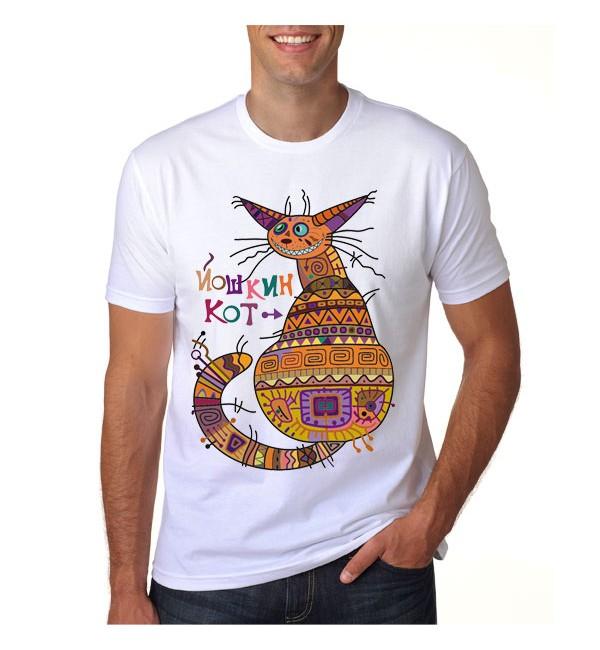 Футболка мужская  Йошкин кот