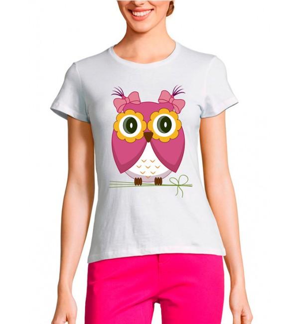 Женская футболка Мама - сова