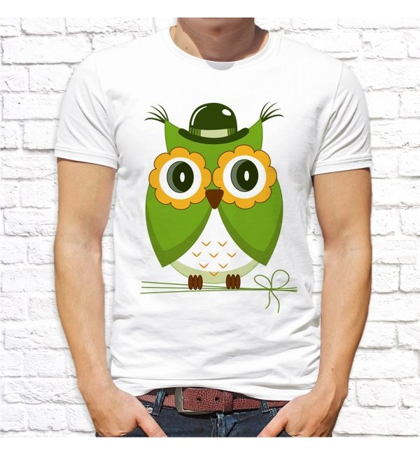 Мужская футболка Папа - сова