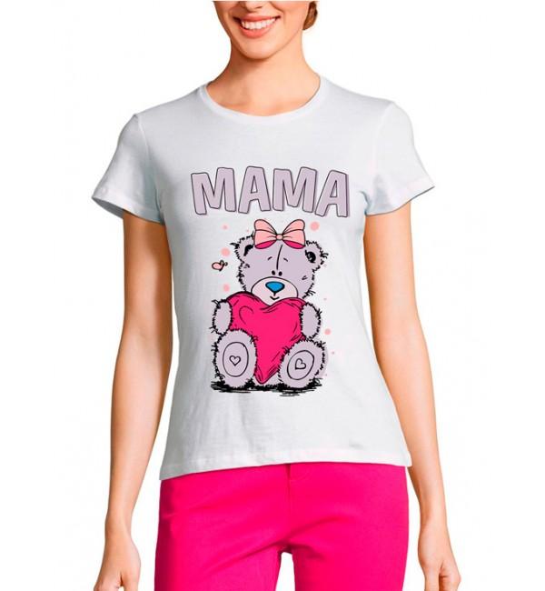 Женская футболка Мама мишка Тедди