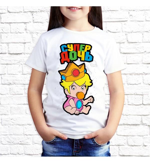 Детская футболка Супер дочь