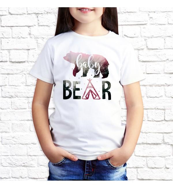 Детская футболка Дочька медведь
