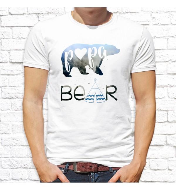 Мужская футболка Папа медведь