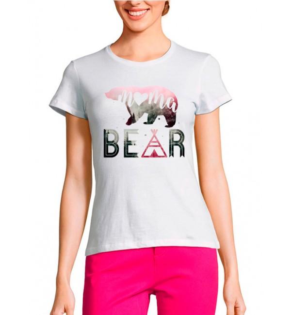 Женская футболка Мама медведь