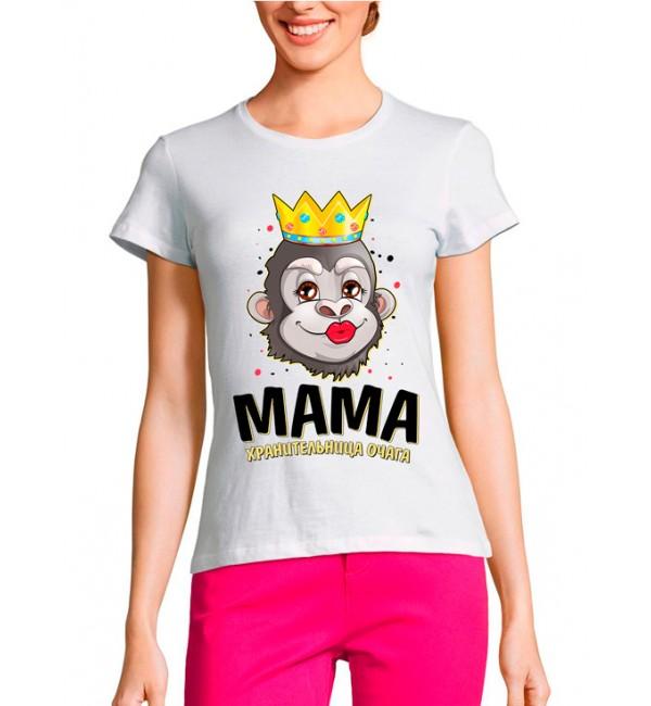 Женская футболка Мама хранительница очага