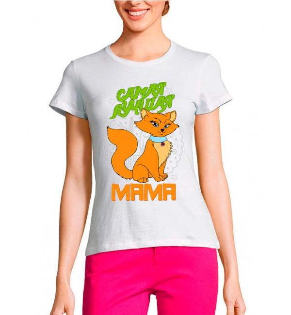 Женская футболка Мама кошка