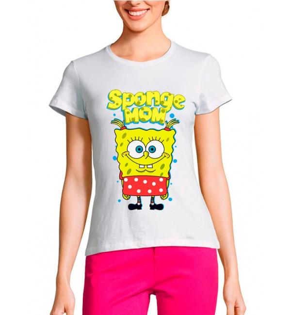 Женская футболка Sponge Mom
