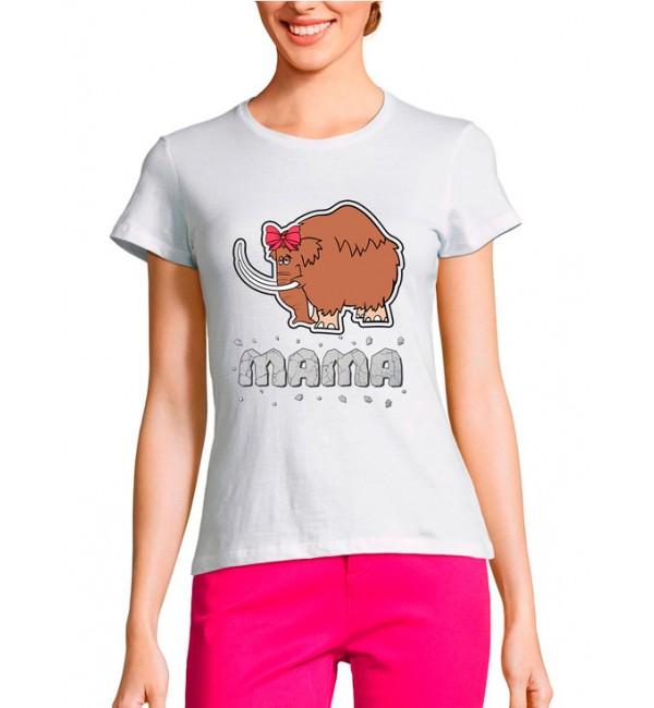 Женская футболка Мама мамонт