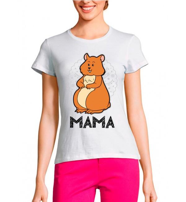 Женская футболка Мама хомяк