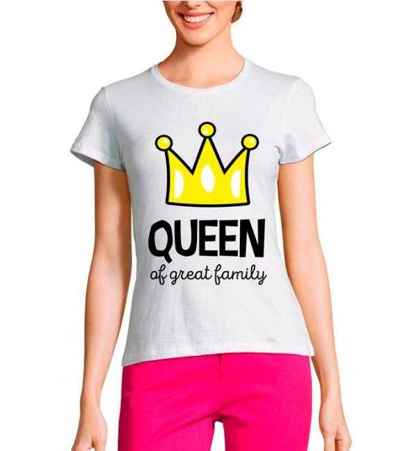 Женская футболка Мама Queen