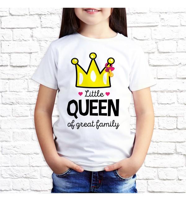 Детская футболка Дочка Little Queen