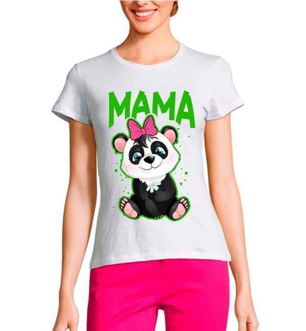 Женская футболка Мама панда