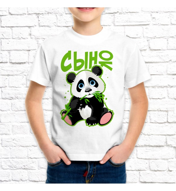 Детская футболка Сын панда